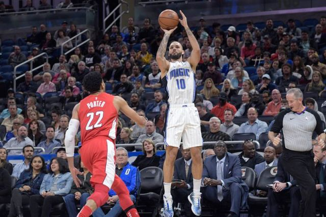 Orlando Magic swingman Evan Fournier struggled at times shooting the ball but turned up his game down the stretch of the regular season.