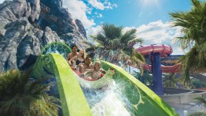 In early summer 2017, a first-of-its-kind water theme park will erupt at Universal Orlando Resort – Universal's Volcano Bay. It will be an innovative experience filled with incredible thrills and perfected relaxation.  Krakatau Aqua Coaster will be the star experience at Universal's Volcano Bay – combining innovative ride technology with water theme park thrills to take families on an unforgettable adventure through the park's massive icon – the 200-foot Krakatau volcano.