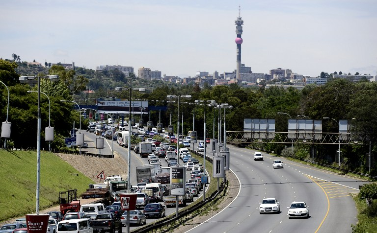 Traffic congestion in Johannesburg