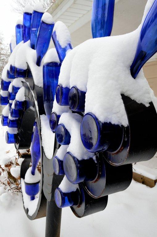 Snow on the Blue Bottle Tree