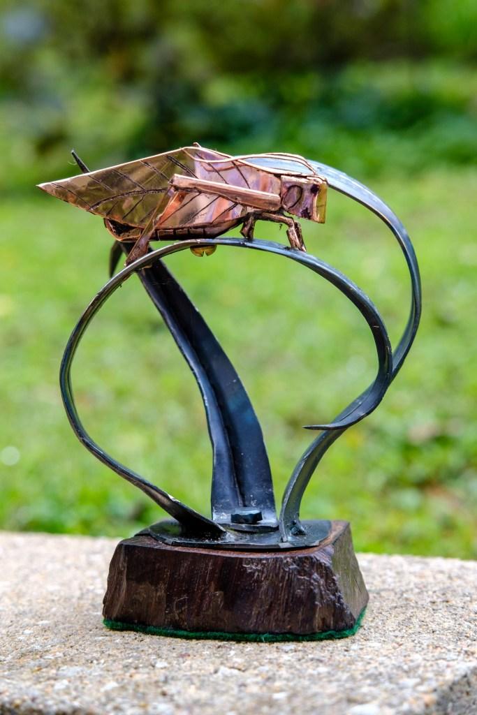 Copper Katydid made by Jim Davis