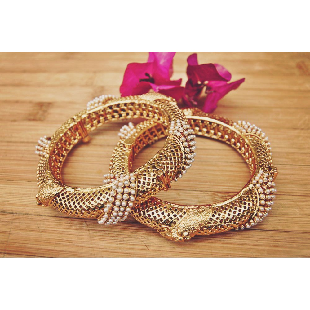 15 Latest Indian Pearl Bangles Designs Styles At Life