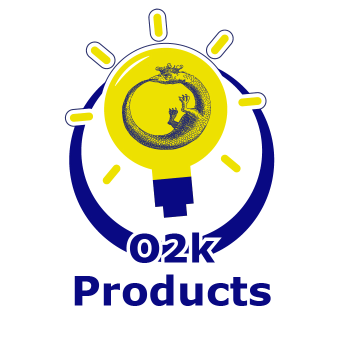 O2k-Products icon - a lightbulb with an the oroboros logo inside