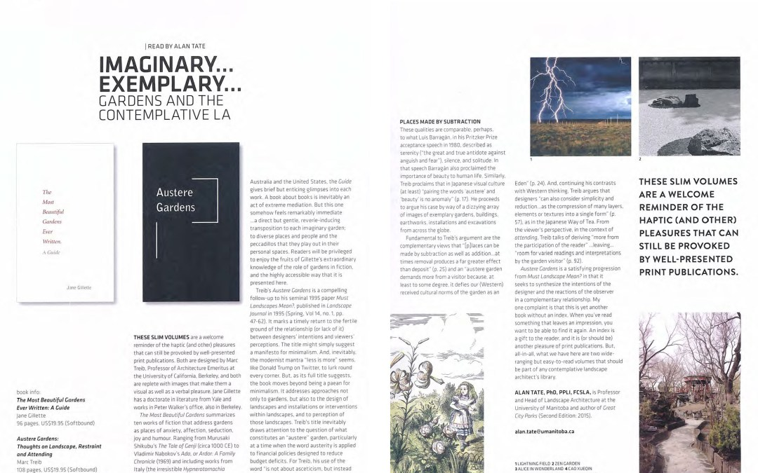 Austere Gardens and The Most Beautiful Gardens Ever Written featured Landscapes Architecture in Canada Magazine