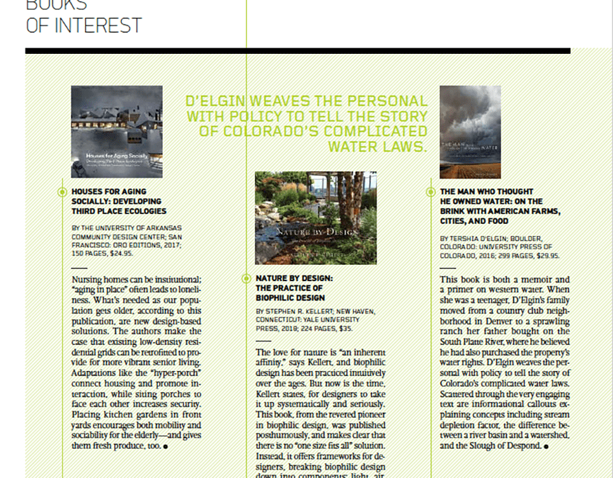 Landscape Architecture Magazine Reviews Houses for Aging Socially in May issue
