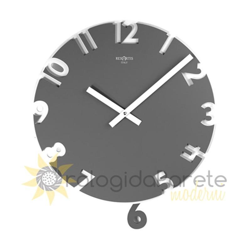 L'orologio a pendolo a vetrina per tutte le case. Wall Clock With Pendulum Modern Wood And Lacquered Orologidaparetemoderni