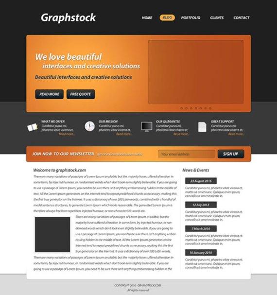 Design a web 2.0 wordpress theme