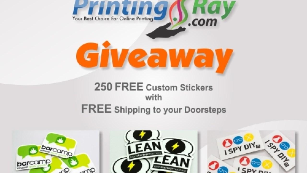 PrintingRay Giveaway- Get 250 FREE Custom Stickers