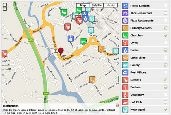 20 Examples of Inspiring jQuery Maps Plugins on site architecture map, information architecture map, javascript map, us world map, project management map, google earth map,