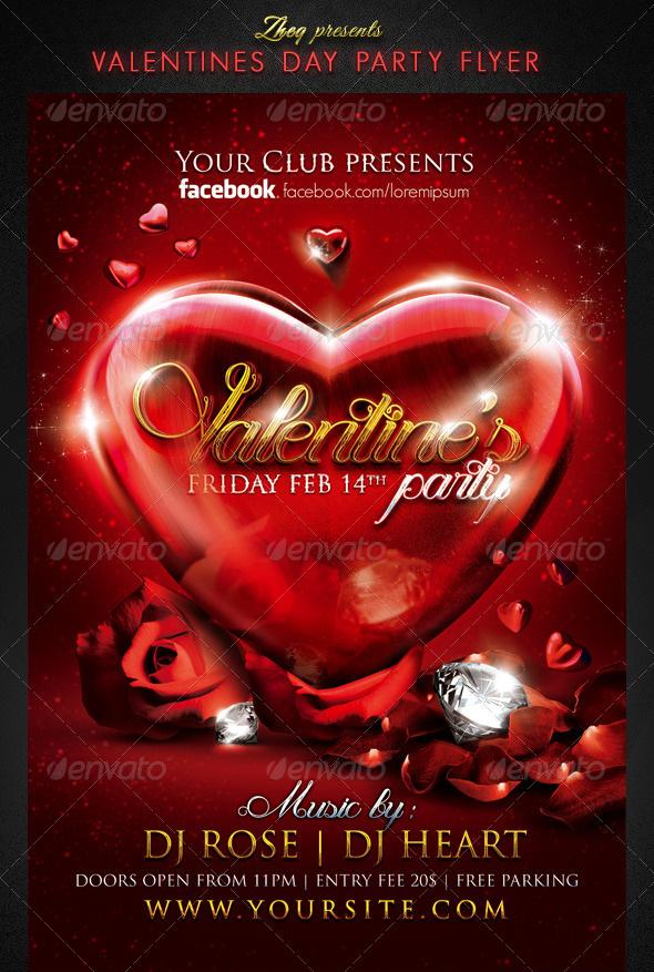Premium Valentine Flyer Templates - Valentine flyer template free