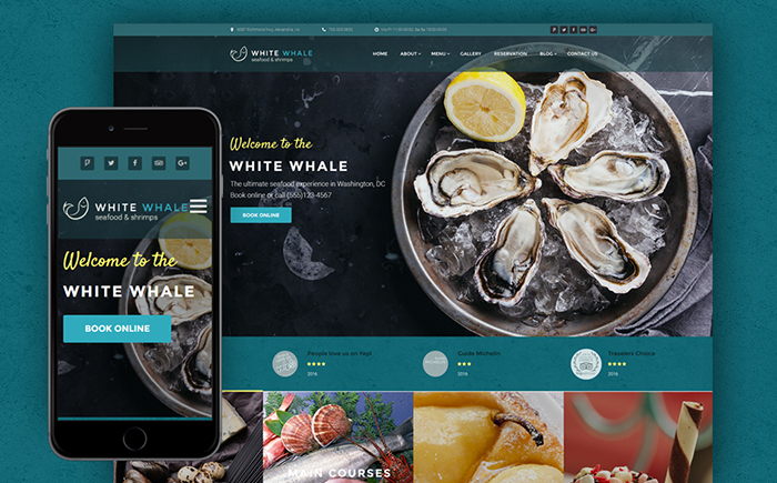 White Whale - Seafood Restaurant WordPress Theme