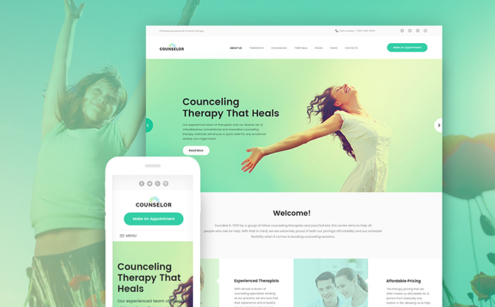 r - Counseling Therapy Center Responsive WordPress Theme