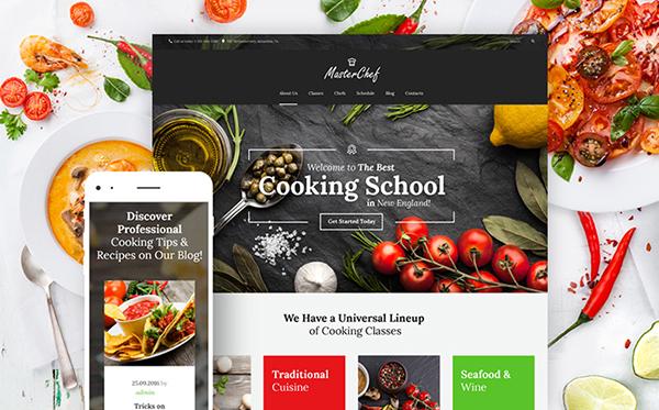 Cooking School WordPress Theme