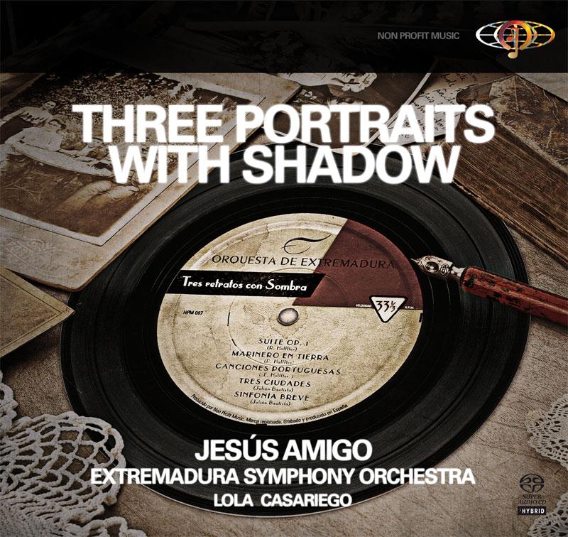 Tres retratos con sombra