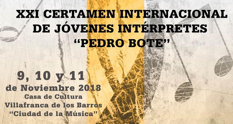 Abierto el plazo de inscripción para el XXI Certamen Pedro Bote