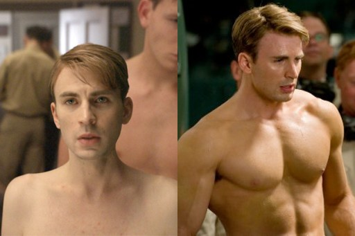 Capitan America Before After