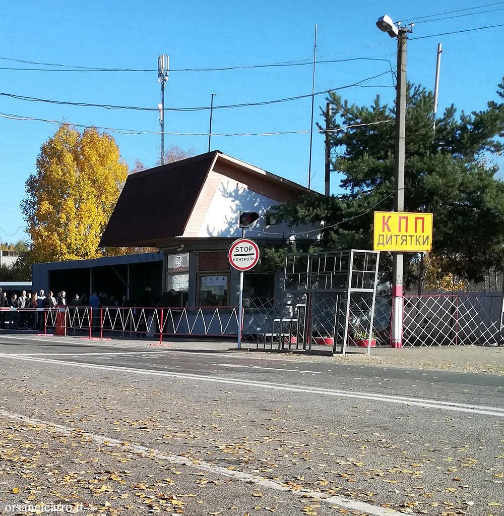 Chernobyl checkpoint militare