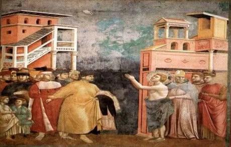 GIOTTO: LA RINUNCIA AI BENI TERRENI di San Francesco