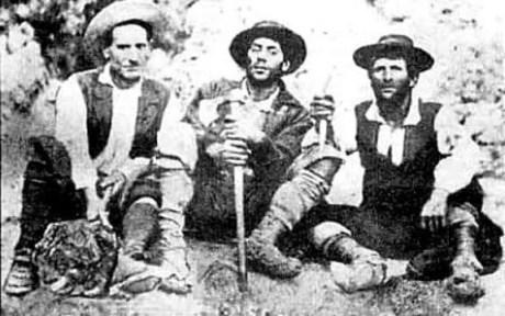 I briganti Cosimo Giordano, Carlo Sartore, Francesco Guerra (foto L. Sangiuolo)