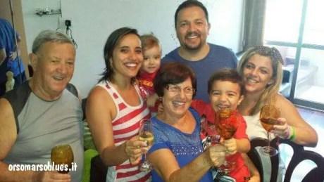 Ilda Ziccarelli con la sua famiglia