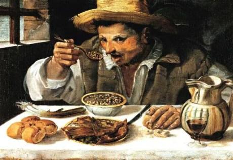 """Annibale Carracci  """"Il mangiatore di fagioli"""" (1583-1584), Galleria Colonna, Roma"""