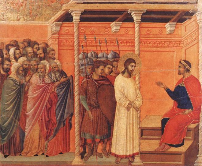 Duccio da Boninsegna, Quid est veritas?