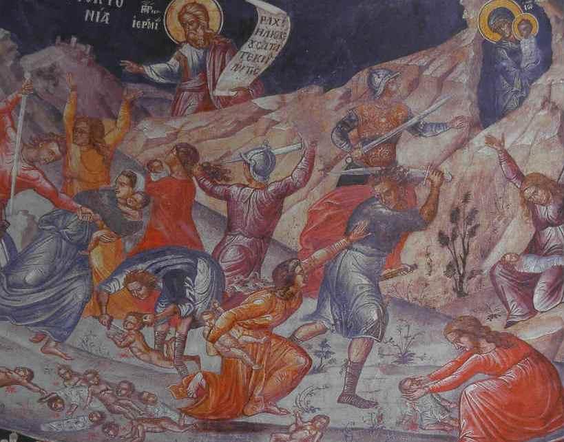 Ορθόδοξος Συναξαριστής 29 Δεκεμβρίου, Άγια Νήπια (περίπου 14.000) που εσφάγισαν με διαταγή του Ηρώδη
