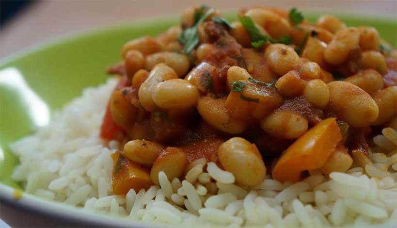 Aγιορείτικες Μοναστηριακές Συνταγές : Ρύζι με φασόλια