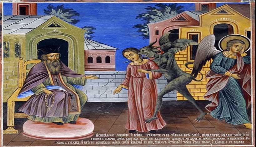 Ο Όσιος Ισαάκιος και οι δαίμονες