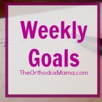 Weekly Goals: Week of September 7