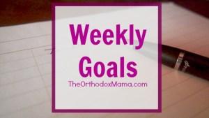 Weekly Goals Final
