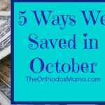 5 Ways We Saved in October