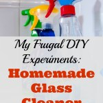 My Frugal DIY Experiments: Homemade Glass Cleaner