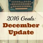 December Update: 2016 Goals