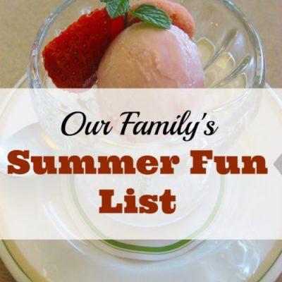 Our 2019 Summer Fun List