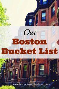 Our Boston Bucket List