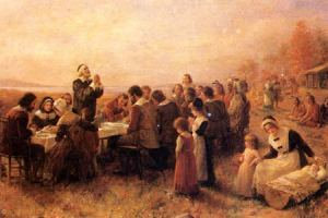 colonial americans praying