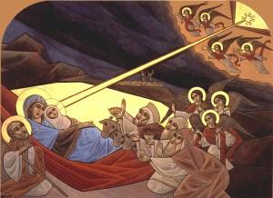 Coptic Nativity icon