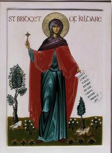 St Brigid of Ireland icon