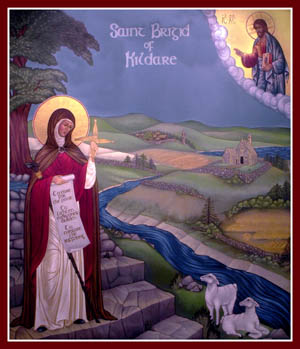 Image result for saint brigid icon