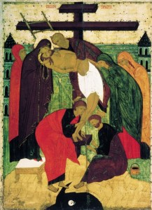 Christ being taken down from the cross