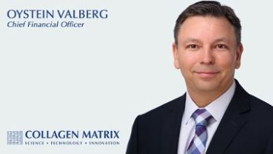 Photo of Collagen Matrix, Inc. Names Oystein Valberg as Chief Financial Officer
