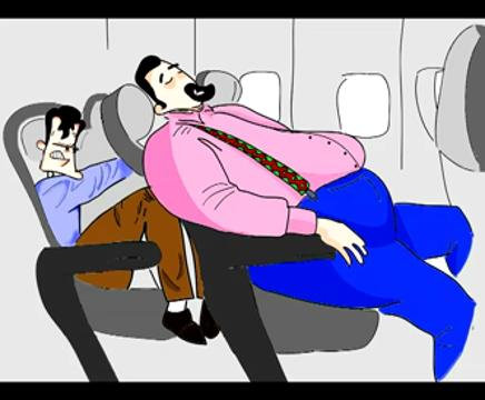 On the heavier side of the news, American Airlines sued by man 'cramped' by obese passengers