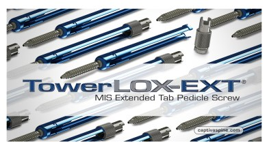 Photo of Captiva Spine Announces TowerLOX-EXT® MIS Extended Tab Pedicle Screw Receives Clearance