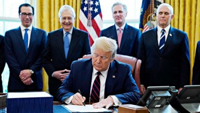 Photo of President Trump Signs $2 Trillion Coronavirus Rescue Package Into Law
