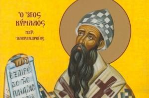 9 Haziranİskenderiye Başpiskoposu Aziz Kiril