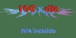 10€ al día, IVA incluido