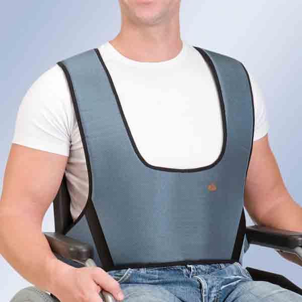 Arnés para sillas de ruedas. Chaleco de sujeción