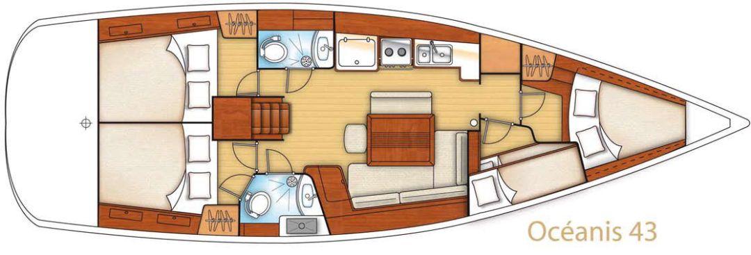Oceanis 43 layout