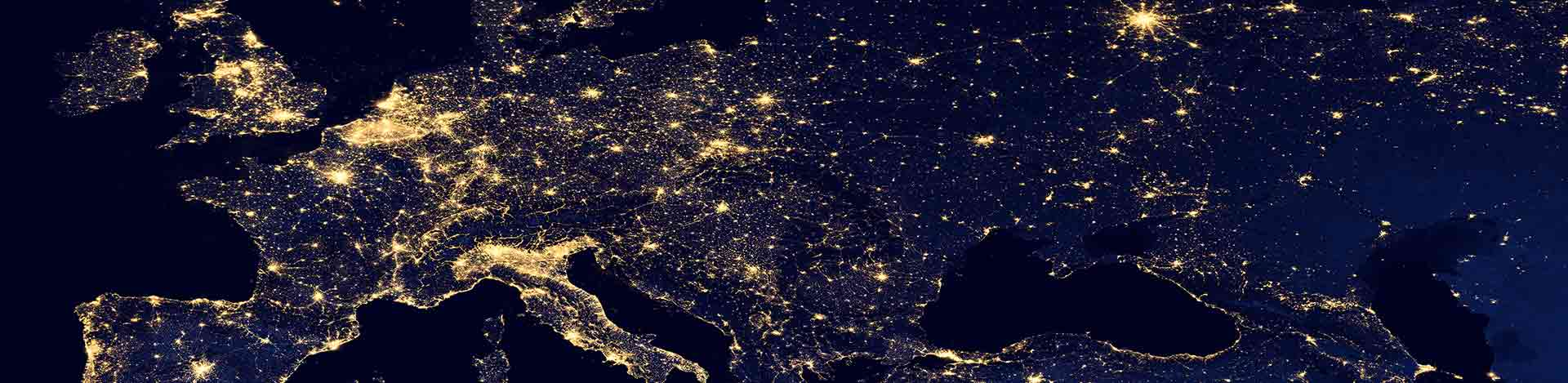 Light pollution in Europe, a path for improving energy efficiency